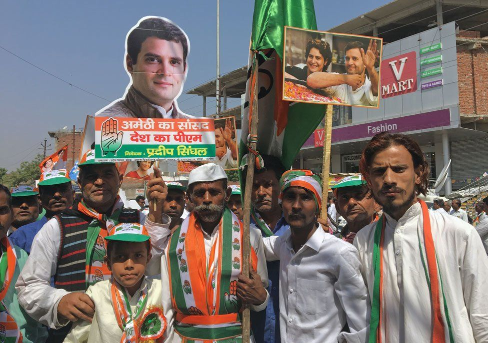 At Rahul Gandhi's roadshow in Amethi