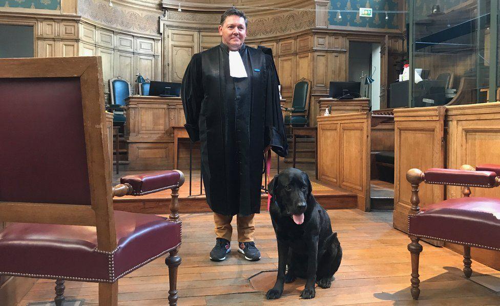 Prosecutor Frederic Almendros with Lol