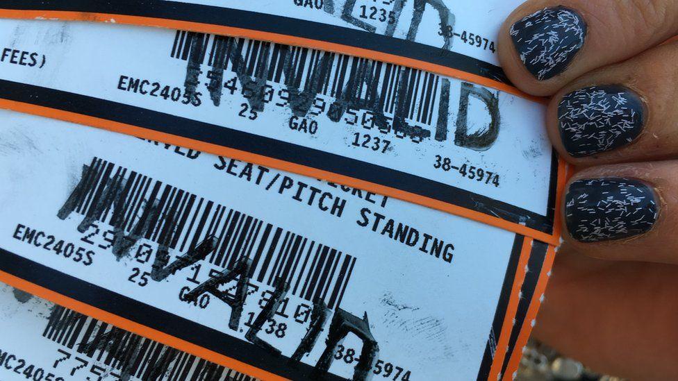 Ed Sheeran tickets marked invalid