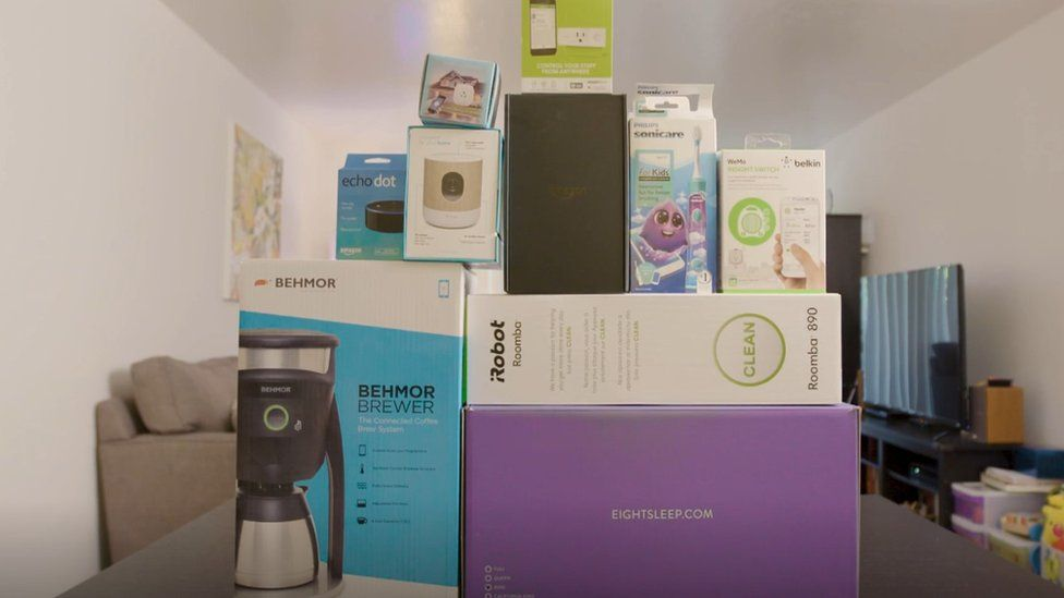 Pile of smart home gadgets