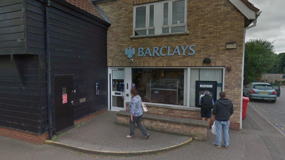 Barclays at Great Shelford before the ram-raid