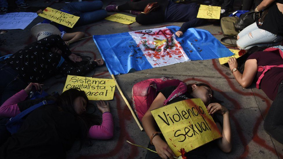 Protesters in Guatemala City drew attention to the alleged abuse in the home