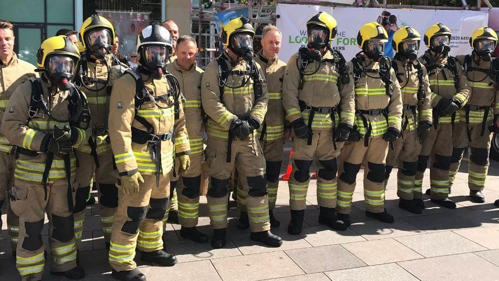 South Wales Fire and Rescue Service firefighters