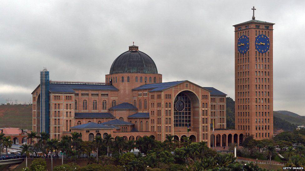 The basilica in Aparecida