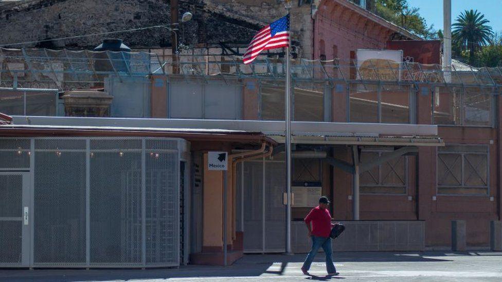Woman near US border checkpoint