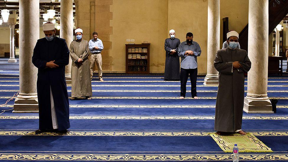 Taraweeh prayers at a mosque in Cairo