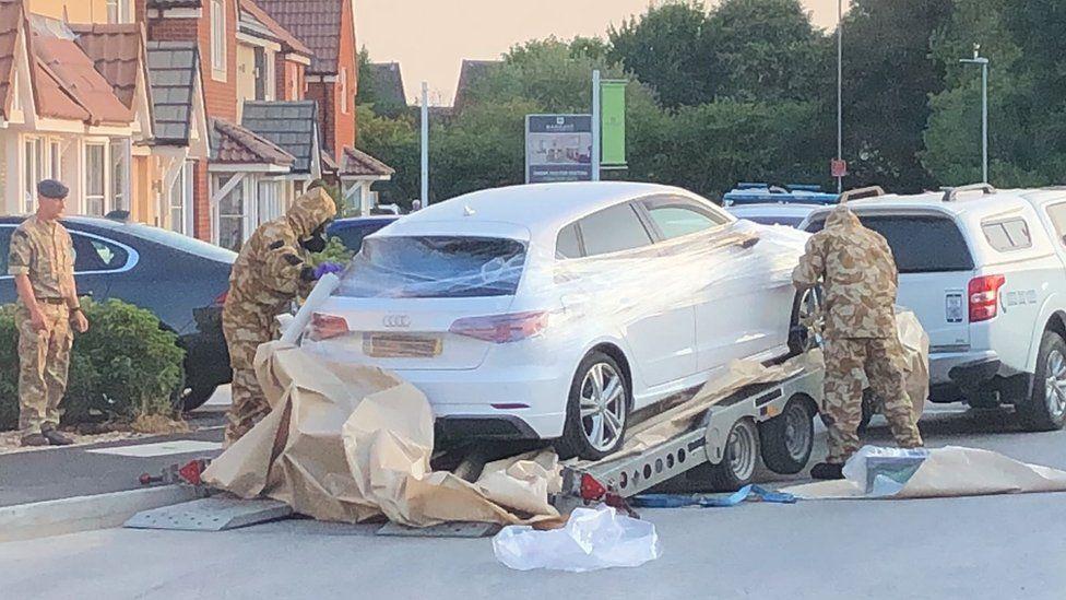 Car being taken away in Swindon