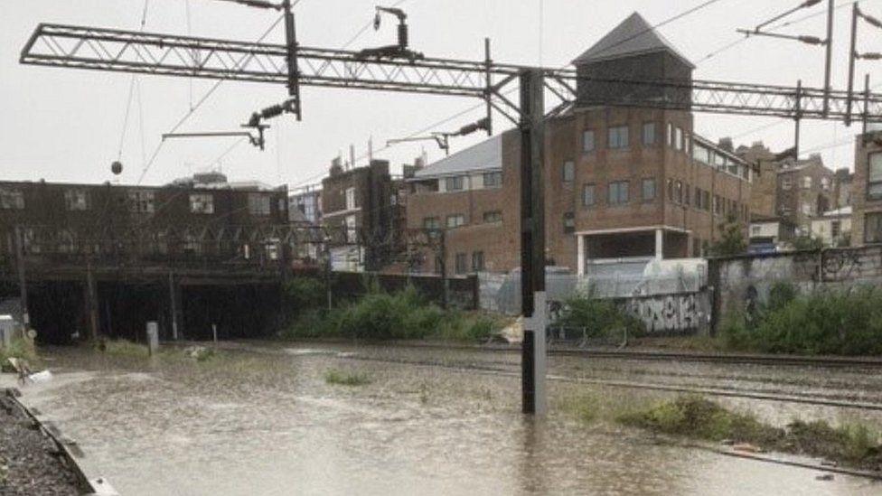 Floods in Euston