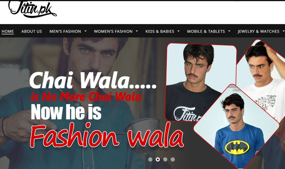 Pakistani 'chai wala' turns model after finding fame - BBC News