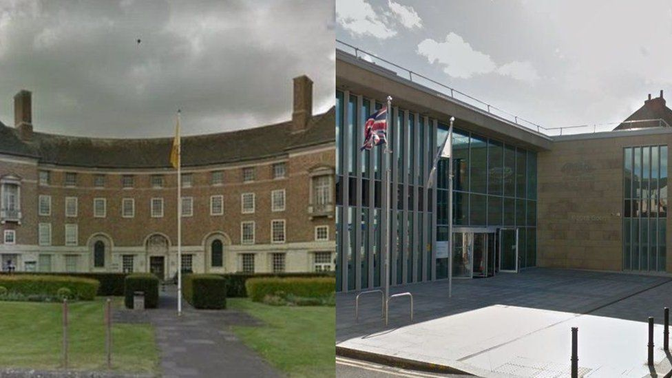 Somerset County Council (left), Cumbria County Council (right)
