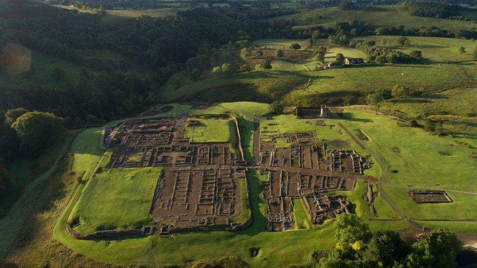 Aerial view of Vindolanda