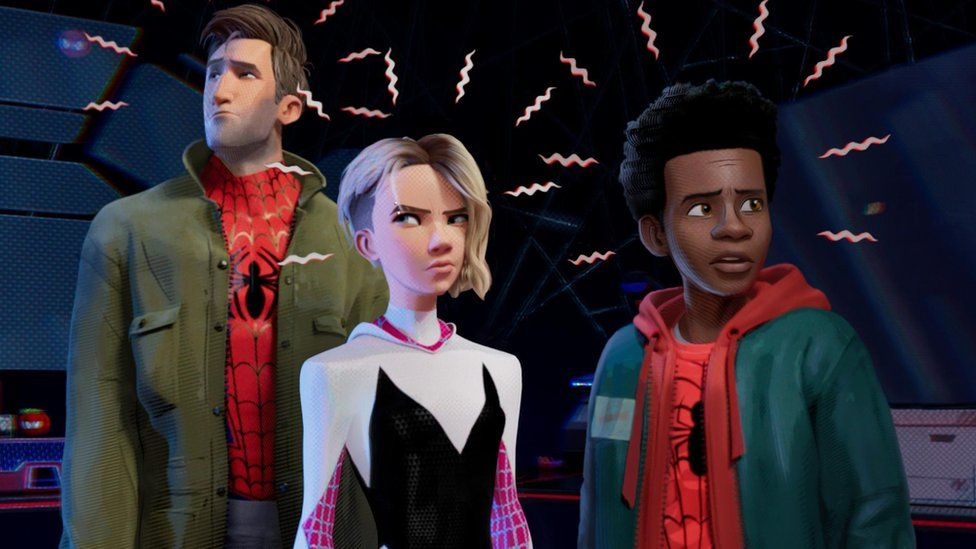 Peter Parker, Gwen Stacy and Miles Morales