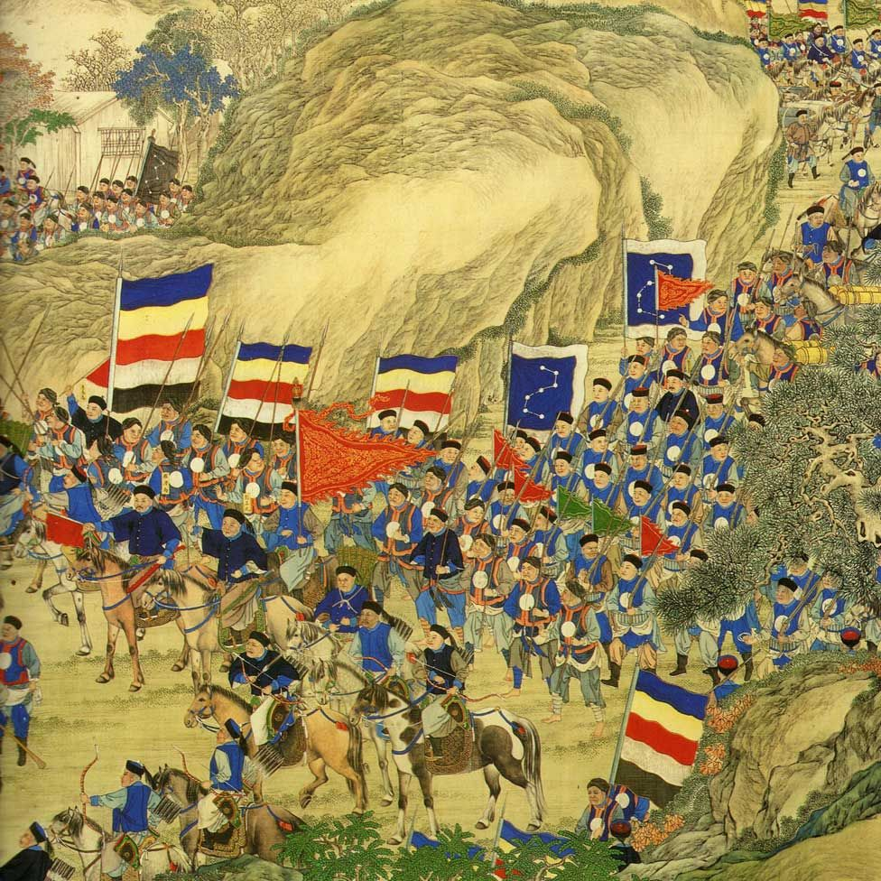 A painting showing the suppression of the Taiping rebellion