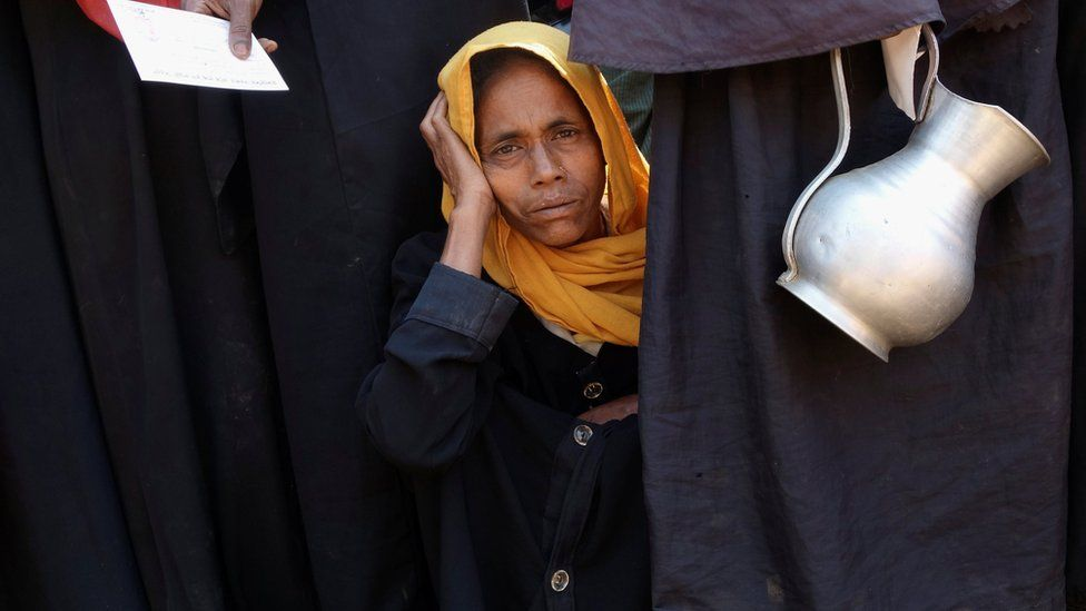 A Rohingya refugee woman at Kutupalang unregistered Refugee Camp in Cox's Bazar, Bangladesh, March 2017