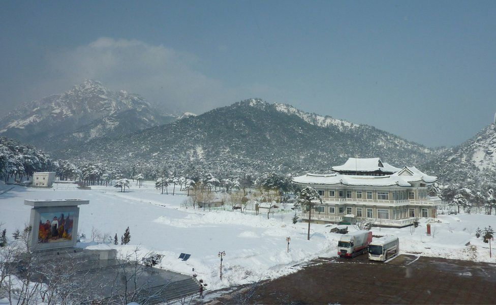 A file photo taken on 21 February 2014 shows a general view of the venue of North and South Korean family reunions at the resort area of Mount Kumgang, North Korea.