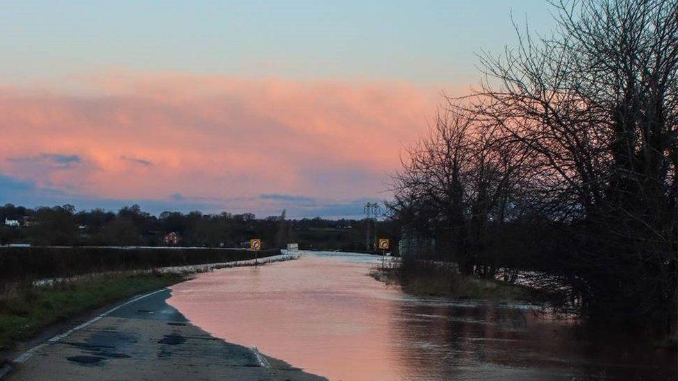 flooding in Bangor-on-Dee