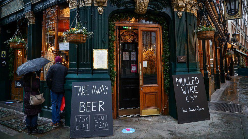 A pub selling takeaway beer