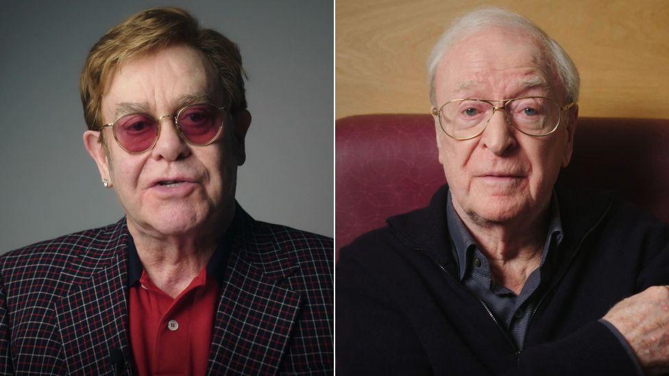 Sir Elton John and Sir Michael Caine