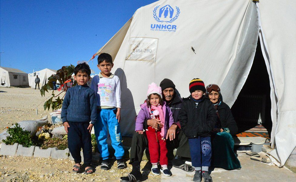 Syrian refugees at a camp in Suruc, 9 Jan 18