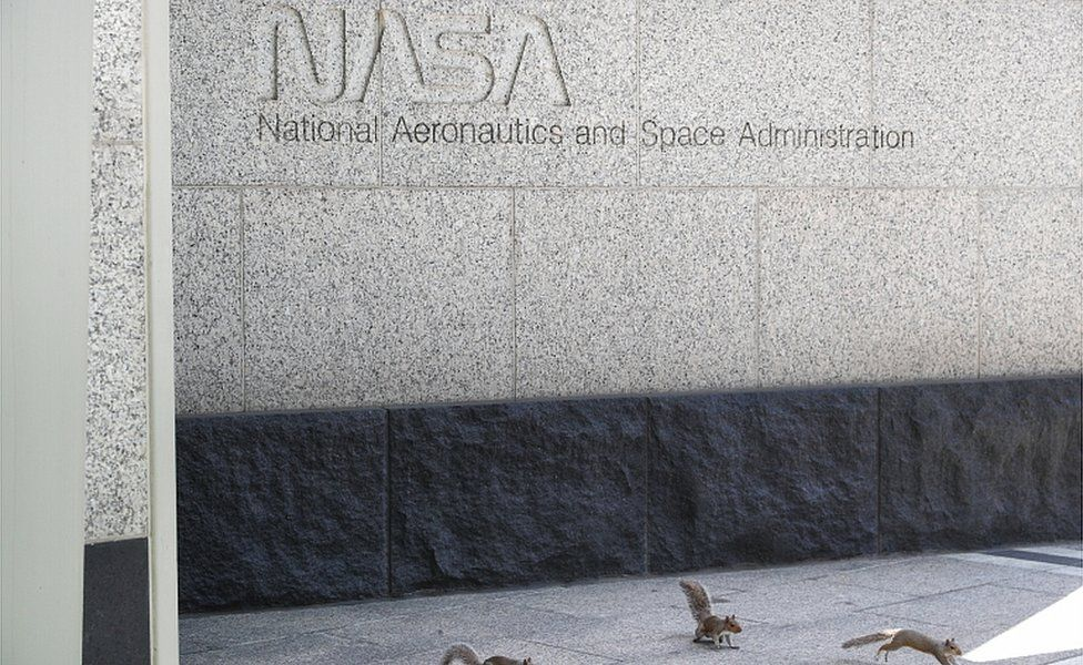 An exterior view of the Nasa headquarters in Washington DC