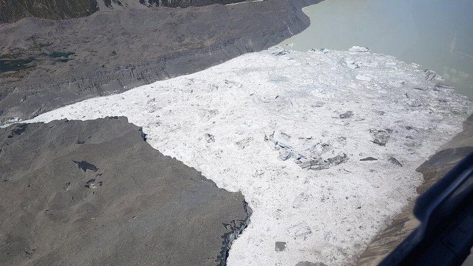 View of the Tasman Glacier and lake
