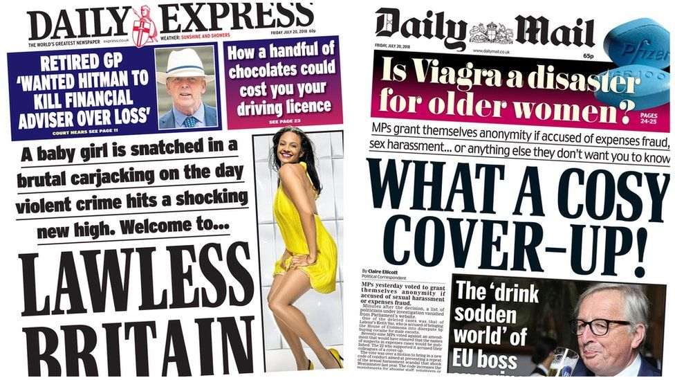 Daily Express and Daily Mail