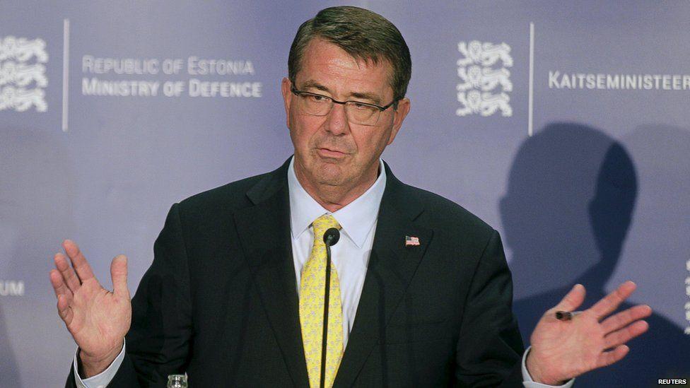 US Defence Secretary Ashton Carter in Tallinn