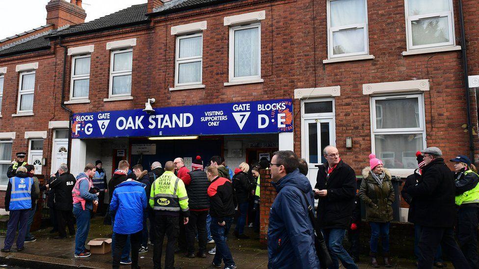 Oak Road stand entrance