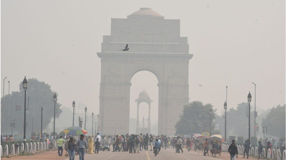 Capital Delhi shrouded in smog in November 2020