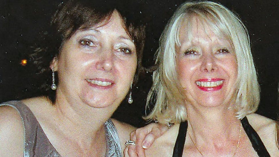 Lesley and her sister Sue