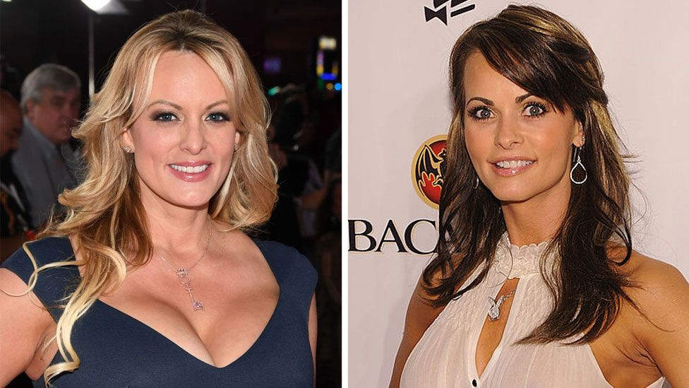 Composite image of Stormy Daniels and Karen McDougal