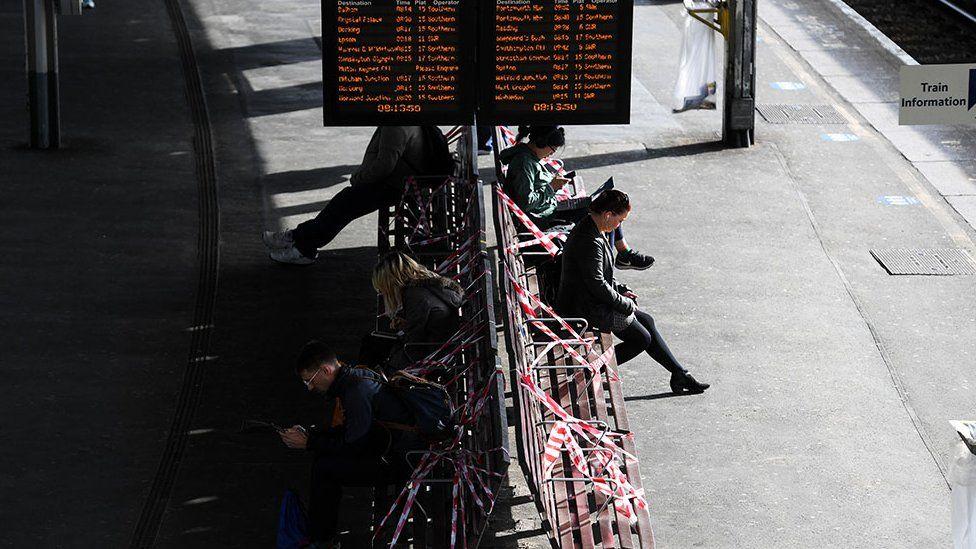 People on a station platform