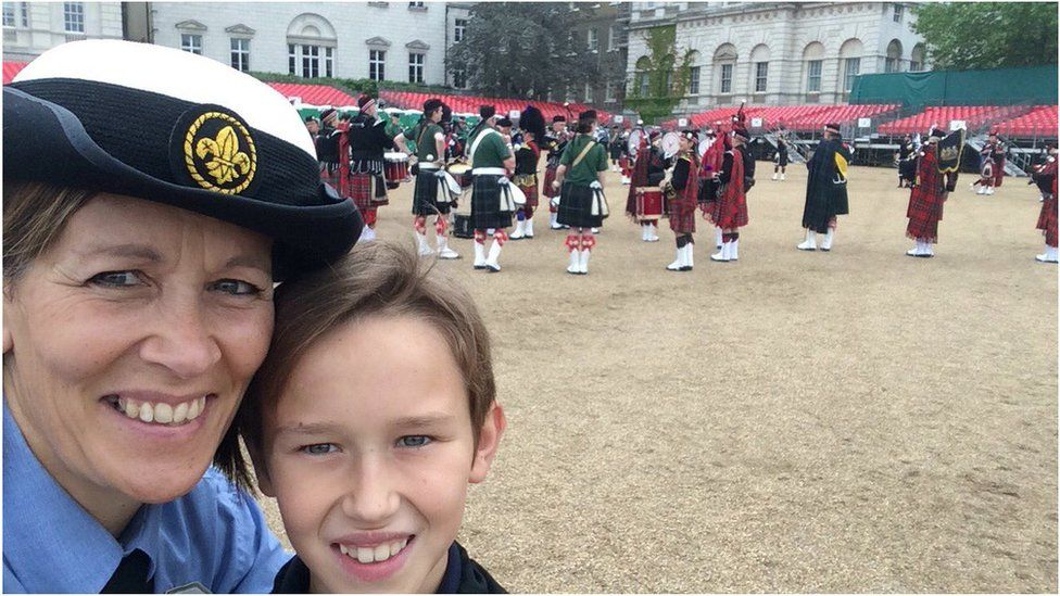"""""""So excited to be in London for the patrons lunch with AJAX Seascouts"""" said Carolyn Rose. Credit: Carolyn Rose"""