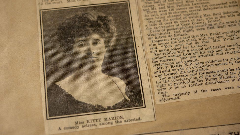 Kitty Marion scrapbook