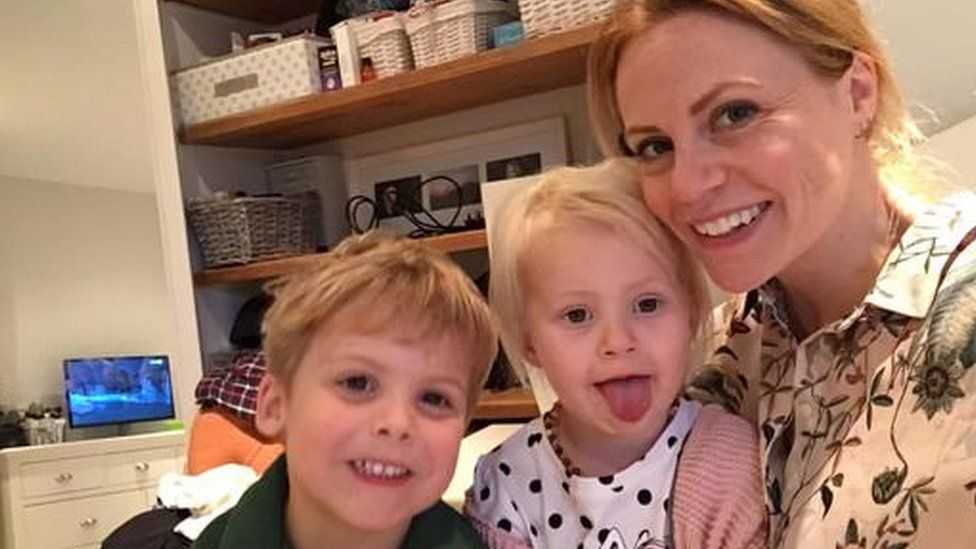 Gemma Cocker with Charlie and Lyla