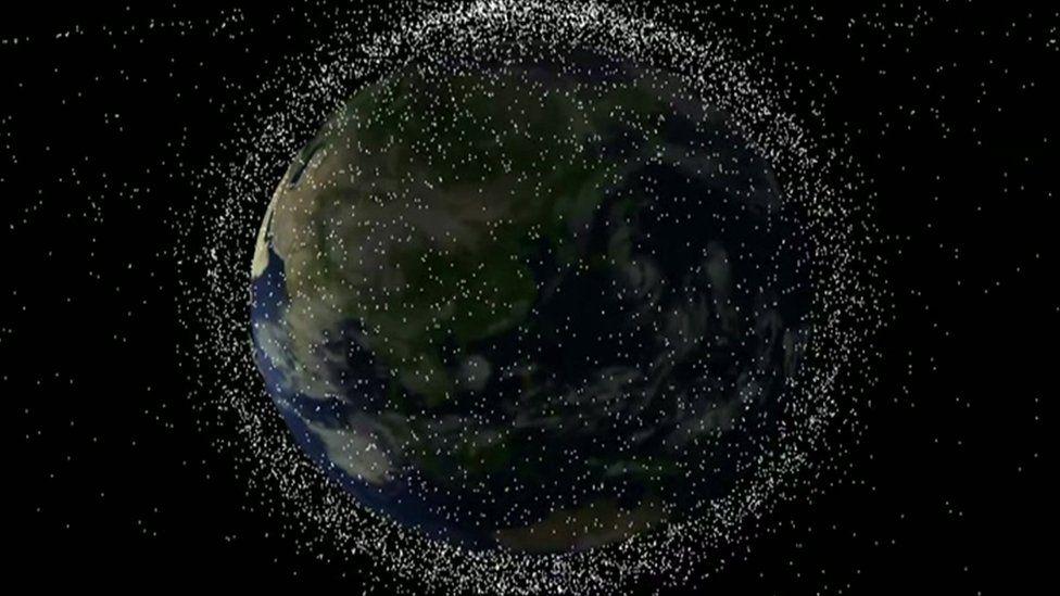 Artist impression of space junk