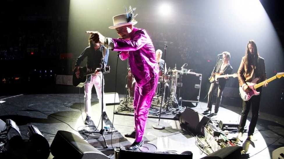 Tragically Hip on stage