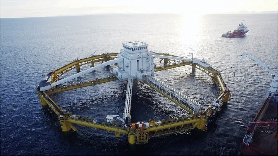 Salmar's giant Ocean 1 fish farm