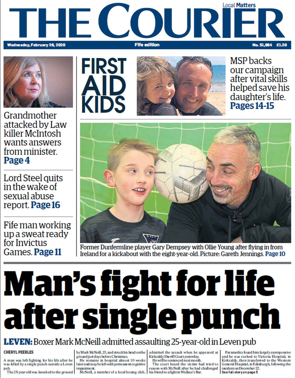 Courier front page