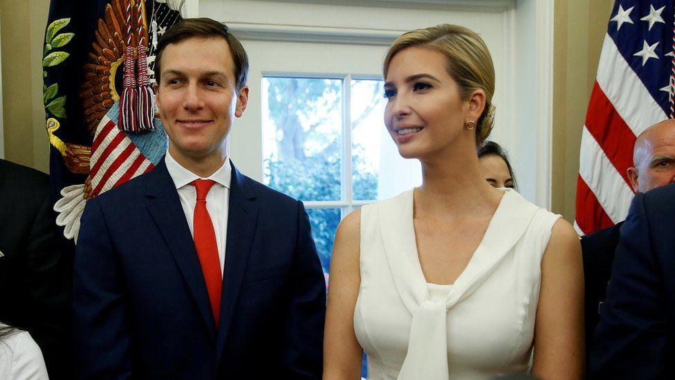 White House senior adviser Jared Kushner and Ivanka Trump