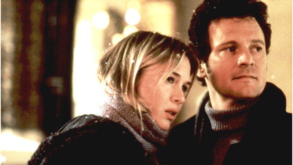 Renee Zellweger and Colin Firth in Bridget Jones' Diary