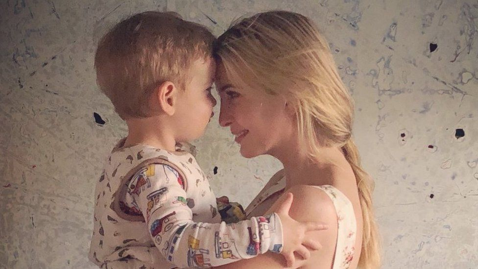 Ivanka Trump holds her son Theodore
