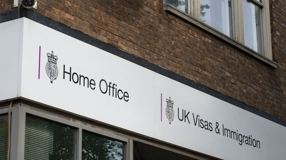 A general view of a Home Office visa and immigration centre on October 12, 2019 in Cardiff, United Kingdom.