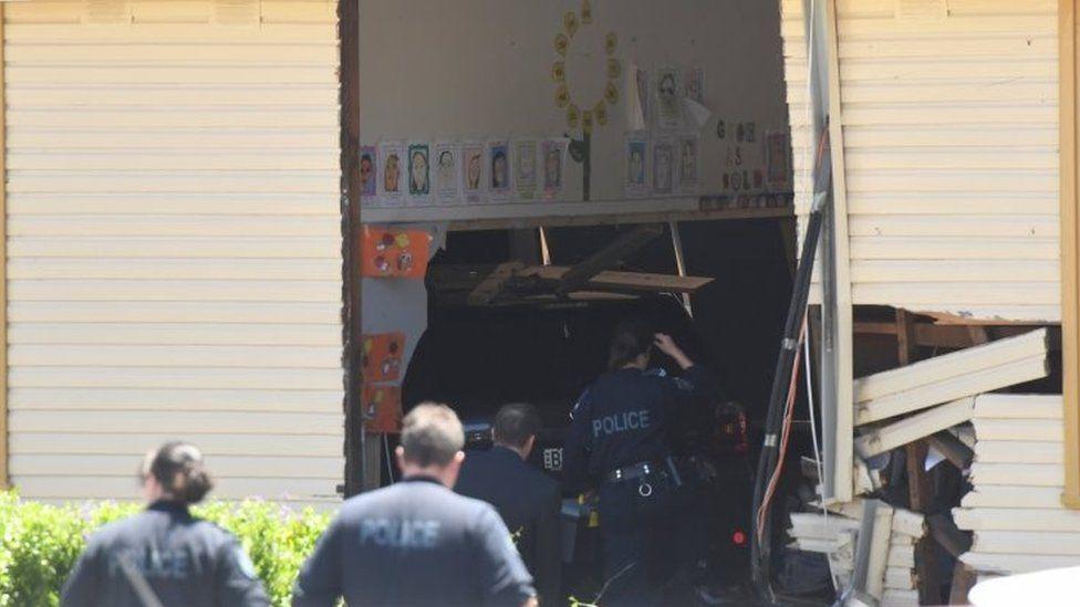 Police investigate the crash in the Sydney suburb of Greenacre