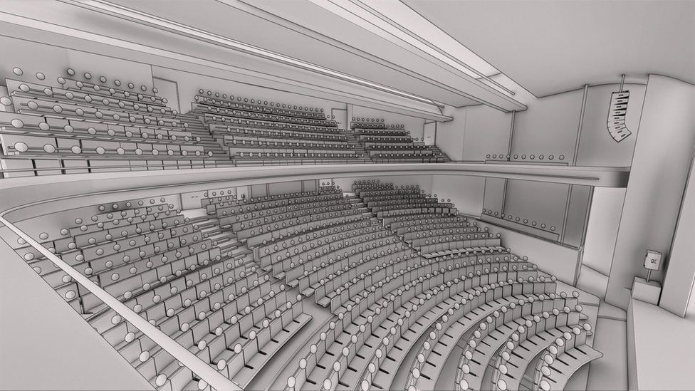 Artists impression of the theatre's interior