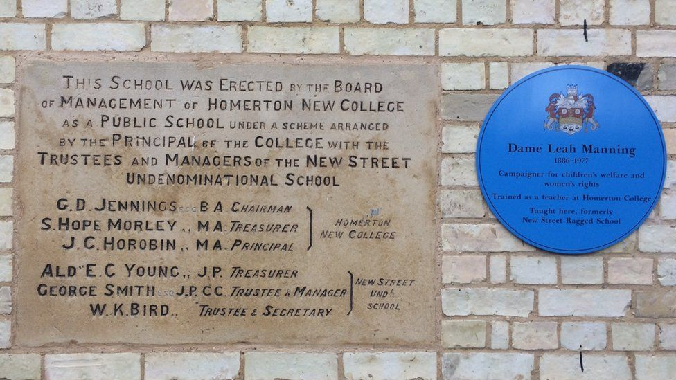 Blue plaque, Anglia Ruskin University