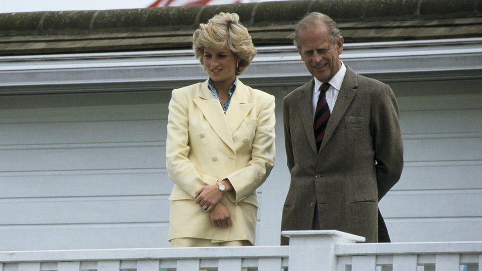 Y Dywysoges Diana a Dug Caeredin yn gwylio gem o polo, 1987