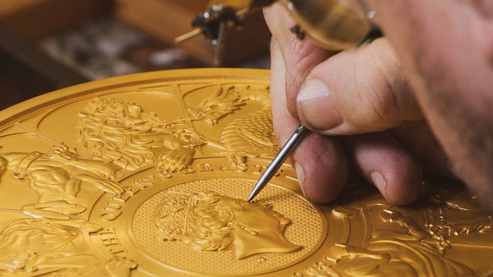 Some of the coin was created by hand