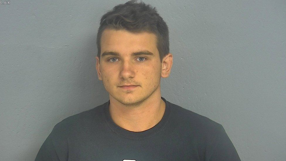 An undated booking photo made available by the Greene County Sheriff's Office shows 20-year-old Dmitriy Andreychenko, who was arrested on 08 August 2019 after sparking mass panic at a Walmart in Springfield, Missouri, USA.