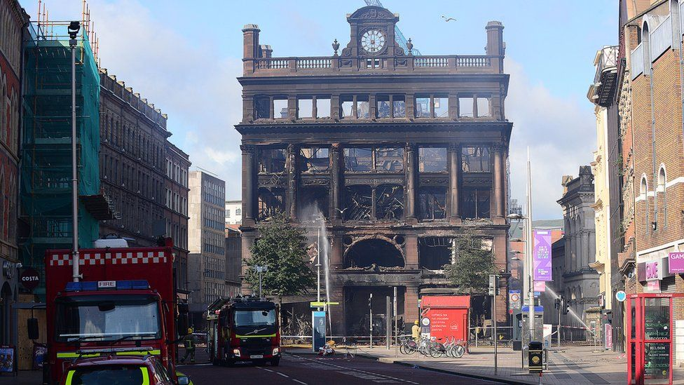Burnt out Bank Buildings